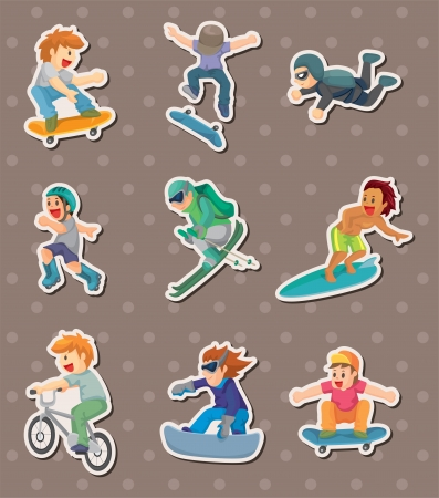 parachute jump: xgame stickers  Illustration