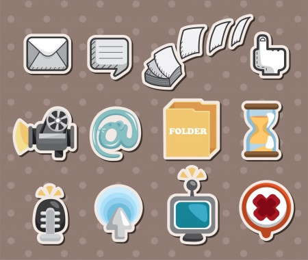 web icon stickers Stock Vector - 15178824