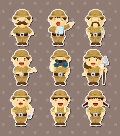 Set Adventurer Personen Stickers