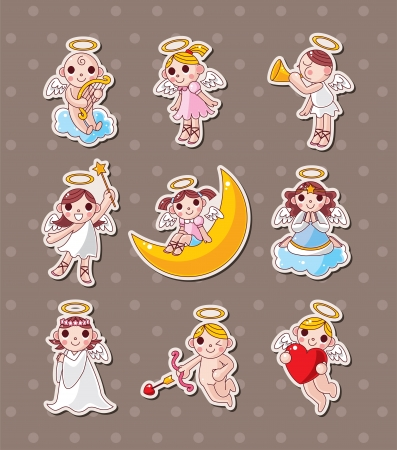 baby stickers: angel stickers