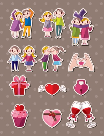 love stickers Stock Vector - 15280122