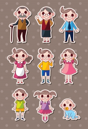 grandmother and grandson: family stickers