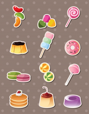 cartoon candy stickers Stock Vector - 15280113