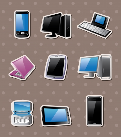 cartoon computer  stickers Vector