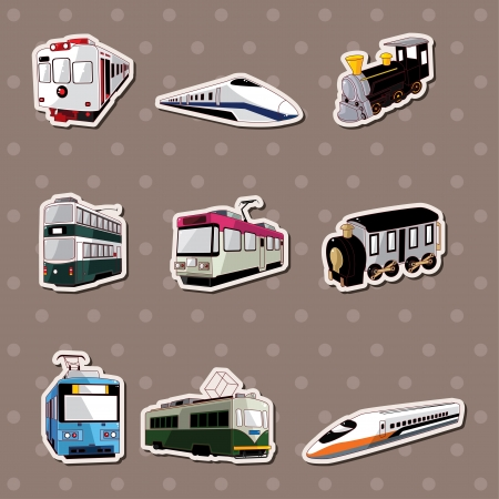 train stickers  Vector