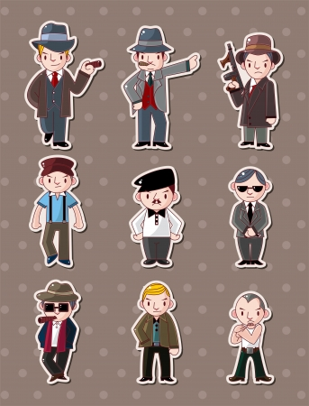 cartoon gangster: mafia stickers