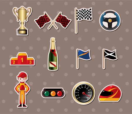 cilp: f1 racing stickers  Illustration