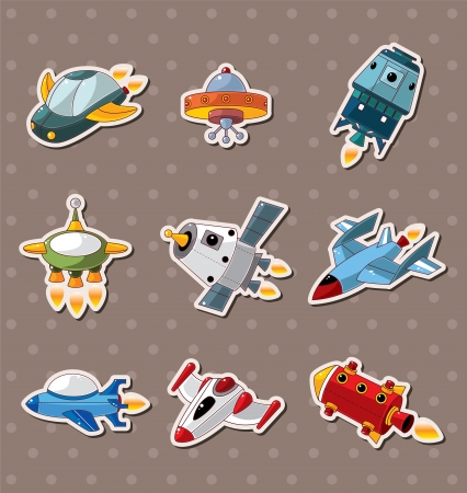 spacecraft: spaceship stickers  Illustration