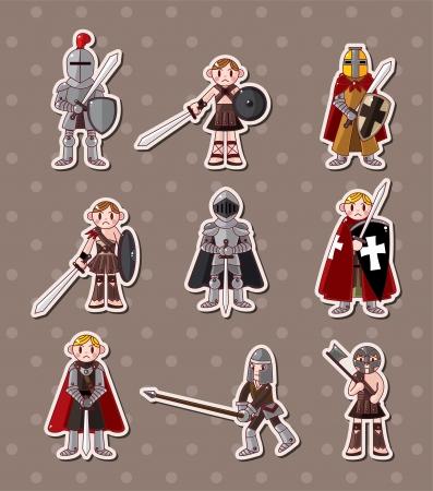 knight: knight stickers  Illustration