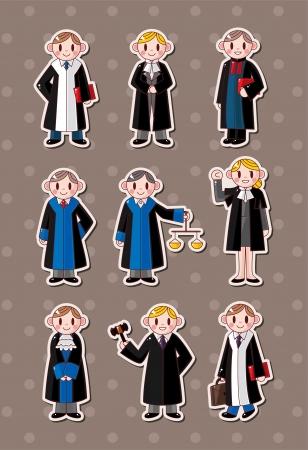 courtroom: cartoon Judge stickers