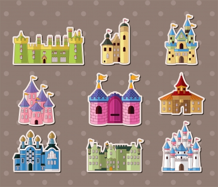 gothic castle: castle stickers  Illustration
