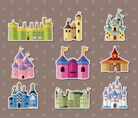 gothic castle: pegatinas castillo Vectores