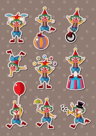 juggling: payaso pegatinas