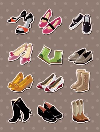 clip art feet: shoe stickers