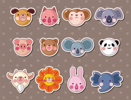 stickers: animal face stickers