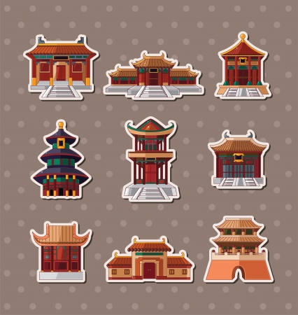 japanese style: Chinese house stickers