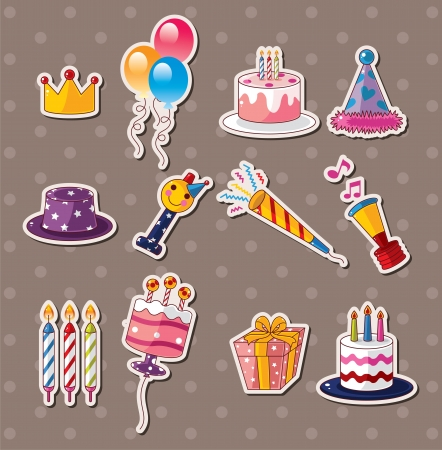 birthday party: birthday stickers