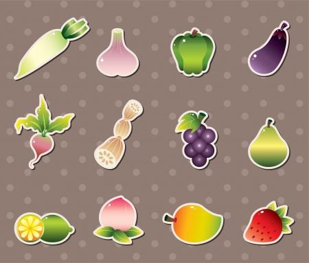 zanahoria caricatura: pegatinas vagetable