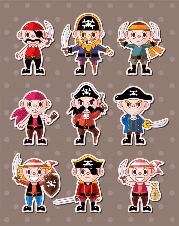 pirate stickers Stock Vector - 15324989