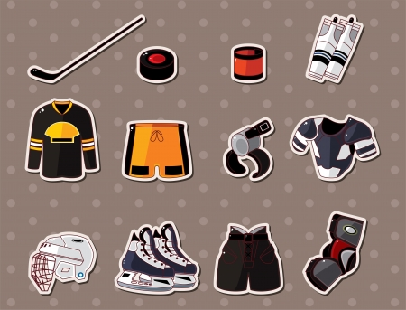 ice hockey player: hocky stickers  Illustration