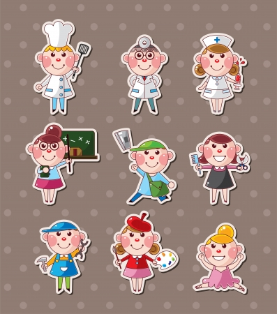 people job stickers Vector