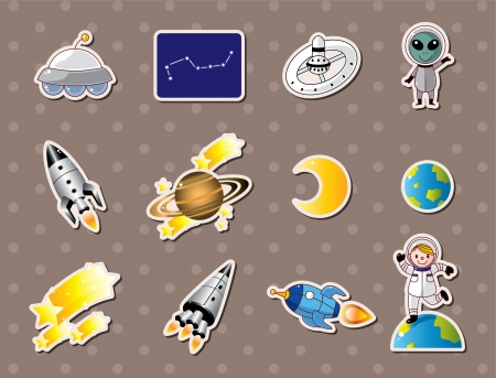 space element stickers  Vector