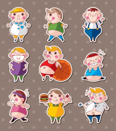 fat boy stickers Vector