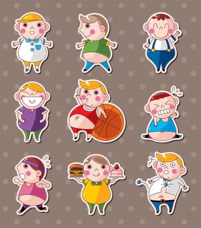 diet weight loss: fat boy stickers