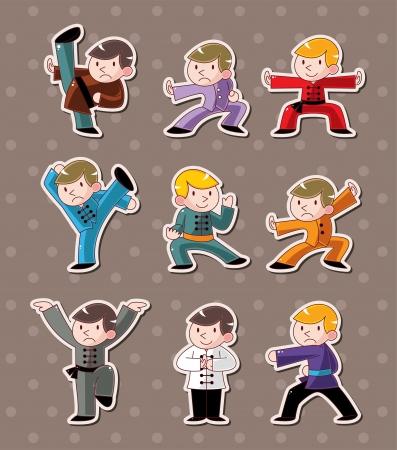 chi: dibujos animados Kung Fu chino pegatinas