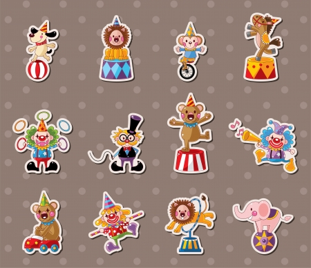 dancing monkeys: circus stickers Illustration
