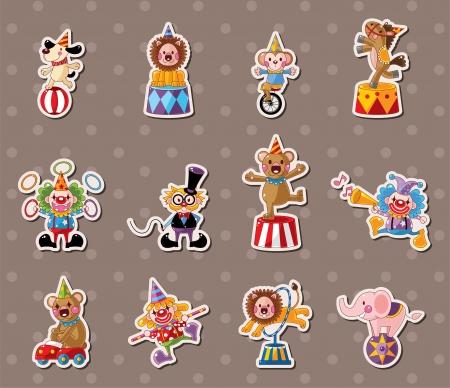 circus: circus stickers Illustration