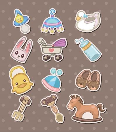 babero: pegatinas cosas del beb�