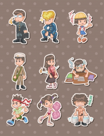 student stickers  Vector
