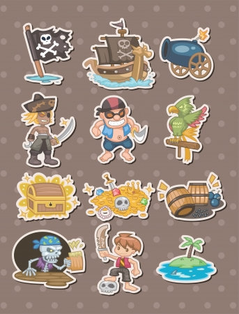 pirate stickers Stock Vector - 15387034