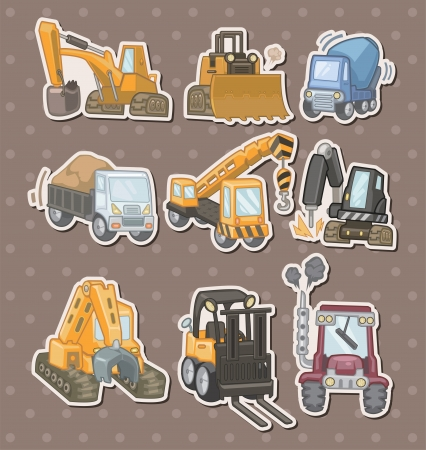 machinery: truck stickers  Illustration