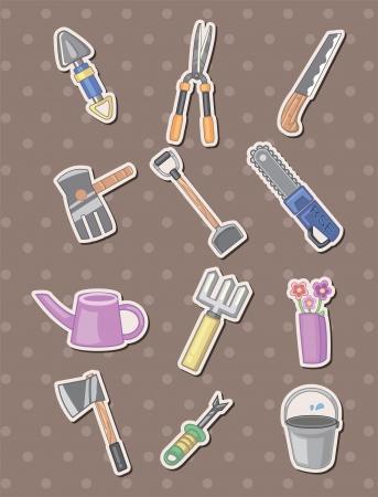 Gardening stickers  Vector