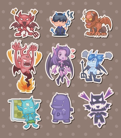 ghouls: ghost and devil stickers