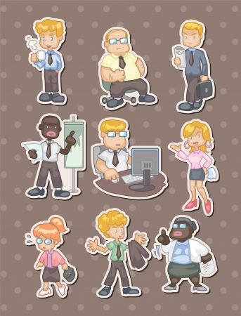 office worker,businessman stickers Vector
