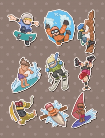 skydiving: xgame stickers  Illustration