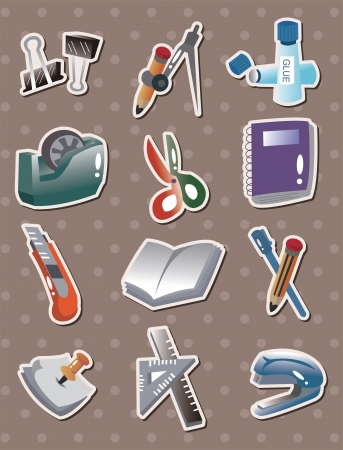 doodle stationery stickers  Vector