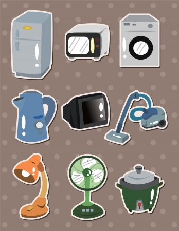 Home Appliances  stickers Vector