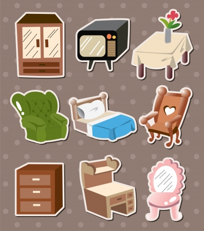 home furniture stickers Vector