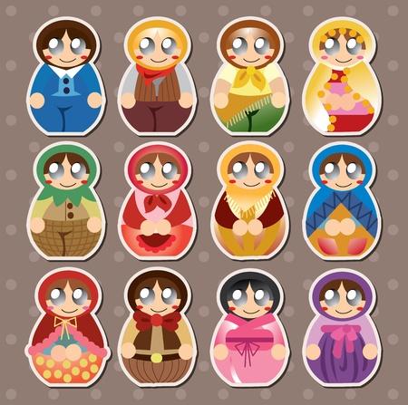 modern doll: Russian dolls stickers