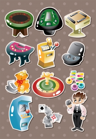 casino stickers Stock Vector - 15386991