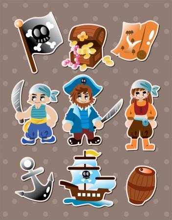 fearless: pirate stickers