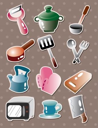 ustensiles de cuisine: autocollants ustensiles de cuisine