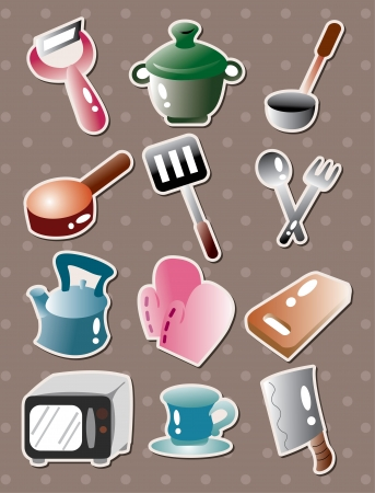 kitchen utensils: kitchen tool stickers