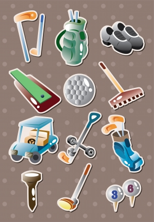 golf stickers  Vector