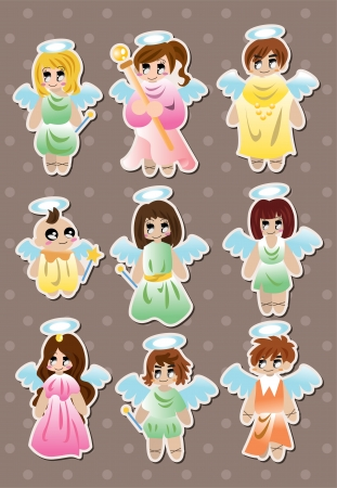 angel stickers Stock Vector - 15420570