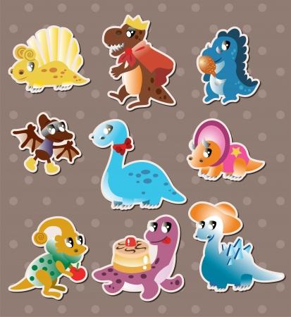 dinosaur stickers  Ilustracja